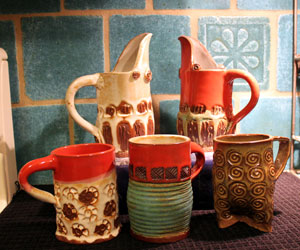 Decorative mugs and pitchers