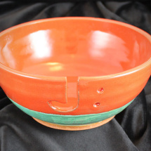 Yarn Bowl - Red and Verdigris