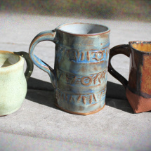 Mugs - Green Blue and Copper