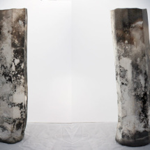 Smoke-Fired Hexagonal Vessel