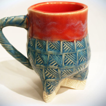 Tripod Mug - Red & Blue