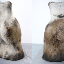 Smoke-Fired Torso Vessel