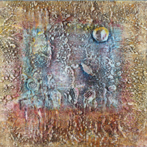 Mesozoic Moon (Encaustic)