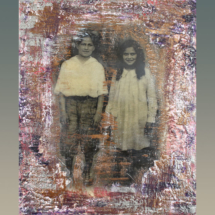 Time Travelers (Encaustic)